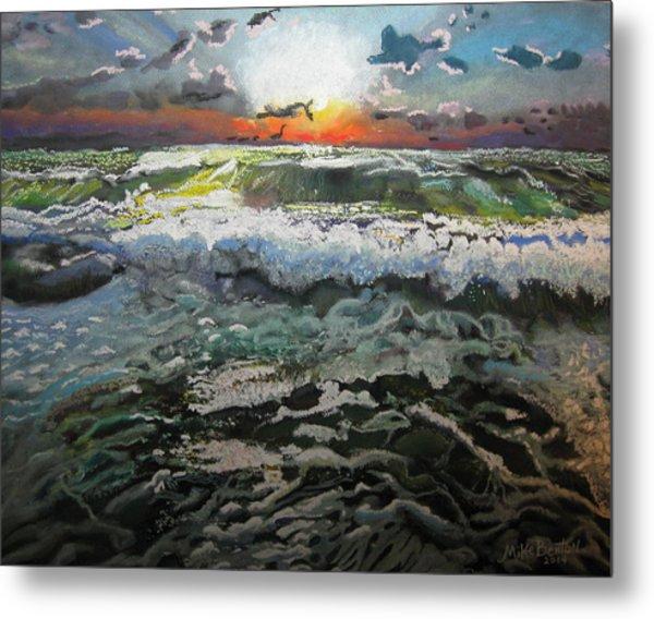 Angry Ocean Metal Print