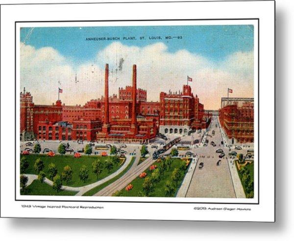 Anheuser Busch Plant 1943 Metal Print
