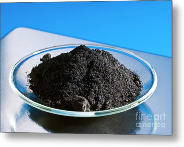 Anhydrous Iron (iii) Chloride Metal Print by Martyn F. Chillmaid