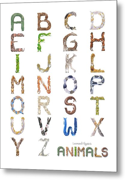 Animal Alphabet Metal Print by Leonard Filgate