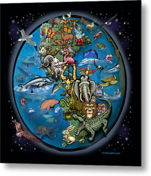Animal Planet Metal Print
