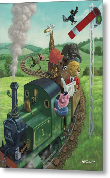 Animal Train Journey Metal Print