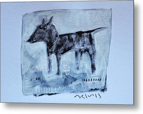 Animalia  Canis No 2 Metal Print