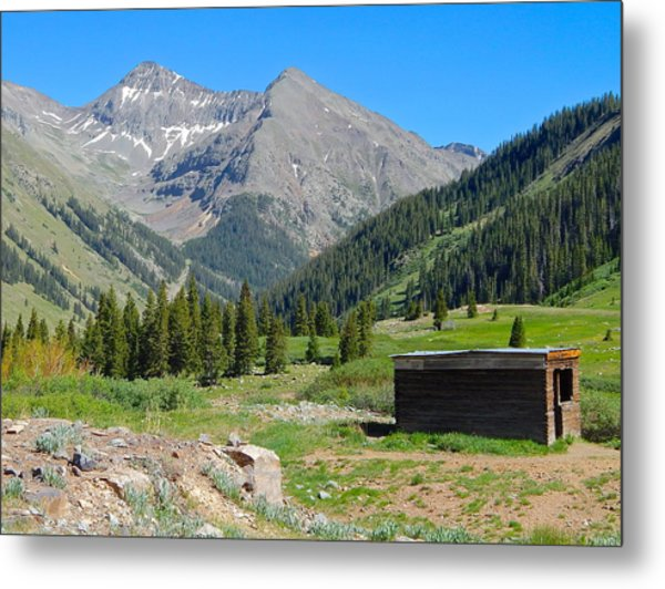 Animas Forks Jail Metal Print