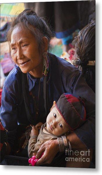 Ann Tribal Grandmother - Kengtung Burma Metal Print