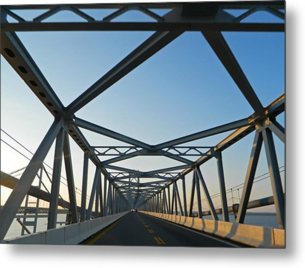 Annapolis Bay Bridge At Sunrise Metal Print