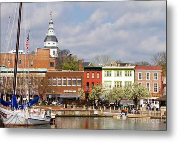 Annapolis Downtown Harbor Metal Print