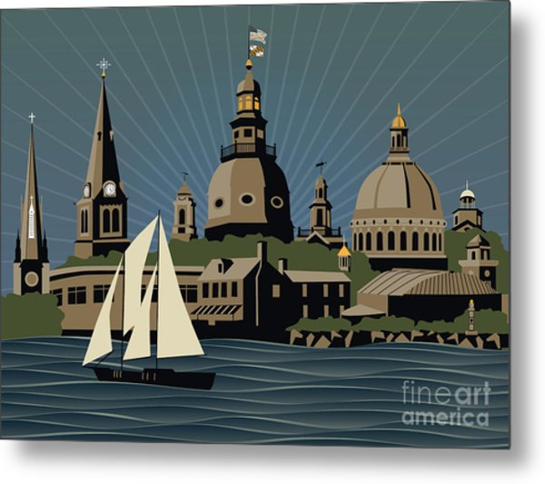 Annapolis Steeples And Cupolas Serenity Metal Print