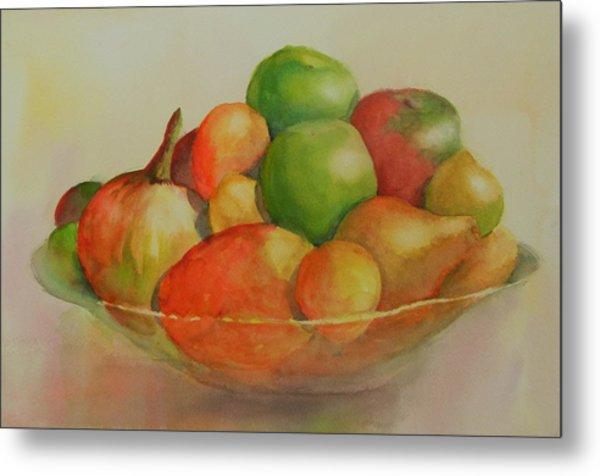 Anna's Fruit Bowl Metal Print by Dorothy Nalls