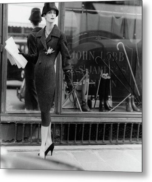 Anne St. Marie Wearing A Dior Coat Metal Print