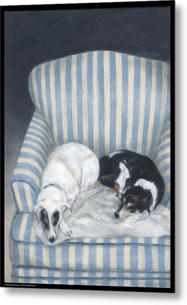 Annie And Spike Napping Metal Print