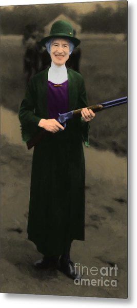 Annie Oakley 20130514 Long Metal Print by Wingsdomain Art and Photography