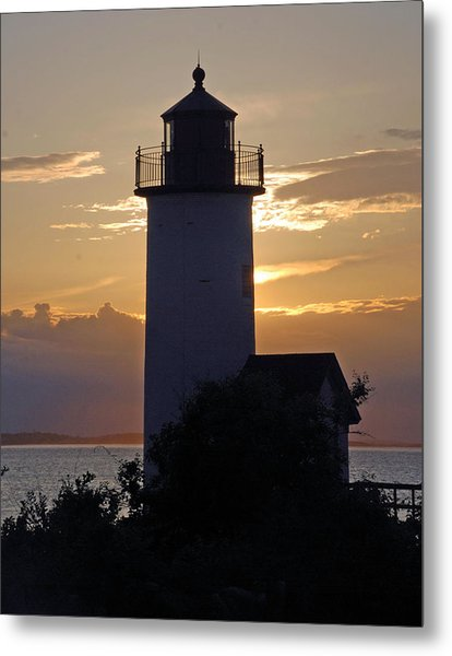 Annisquam Lighthouse Sunset Metal Print
