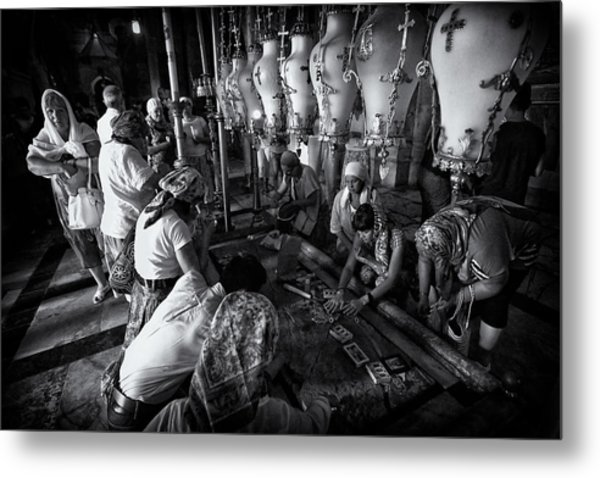 Anointing - Church Of The Holy Sepulchre Metal Print
