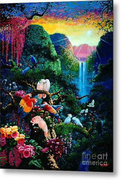 Another Day In Paradise - Digital 2 Metal Print