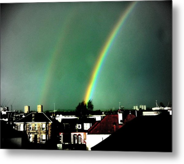 Another Scottish Rainbow Metal Print by Mlle Marquee
