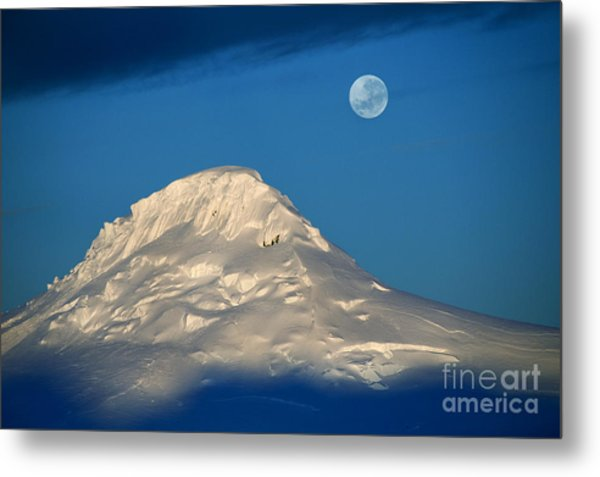 Antarctic Moon Metal Print