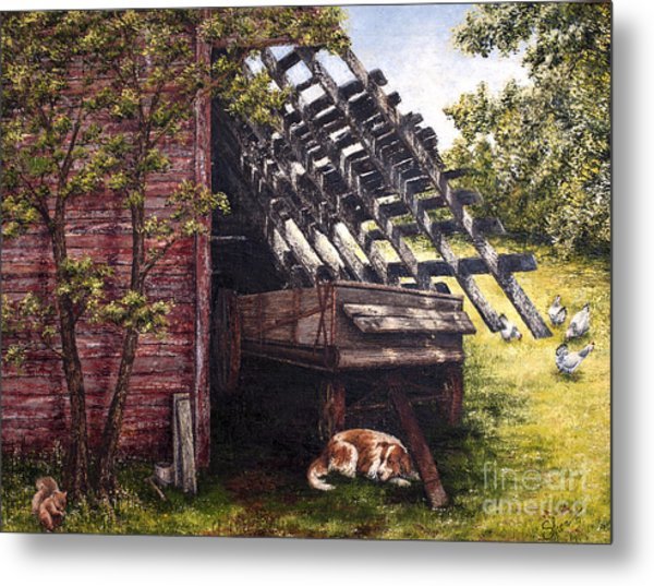 Anticipation - Farm Life Metal Print