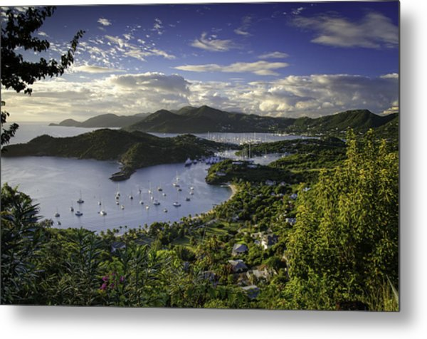 Antigua Sunset From Shirley Heights Metal Print