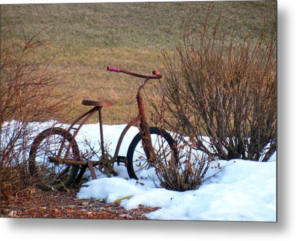 Antique Bike Metal Print