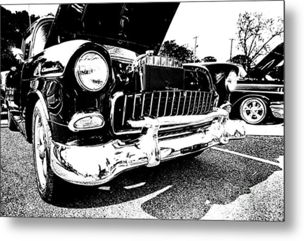 Antique Chevy Car At Car Show Metal Print