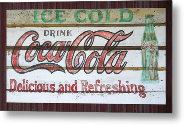 Antique Coca Cola Sign  Metal Print