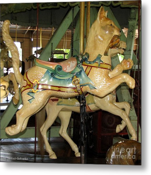 Antique Dentzel Menagerie Carousel Cat Metal Print