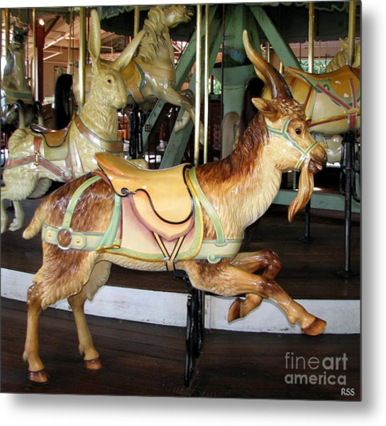 Metal Print featuring the photograph Antique Dentzel Menagerie Carousel Goat by Rose Santuci-Sofranko