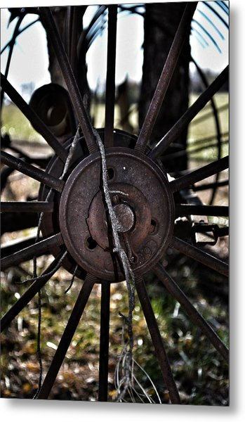 Antique Farm Equipment Metal Print by Branden Simons