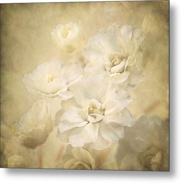Antique Floral Metal Print