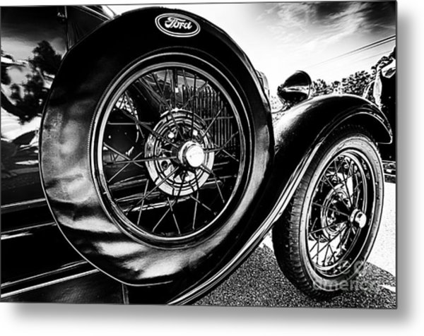 Antique Ford Car Metal Print