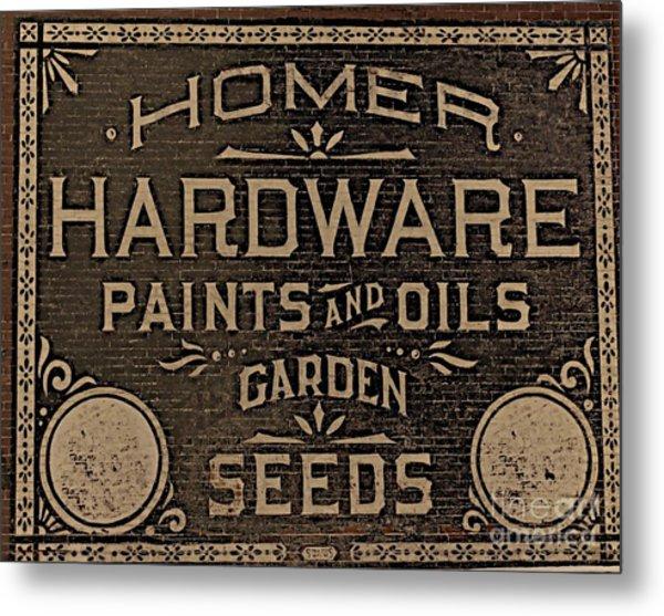 Antique Homer Hardware Metal Print