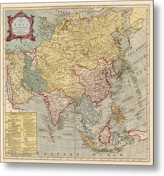 Antique map of asia by jean palairet circa 1780 drawing by blue antique map of asia by jean palairet circa 1780 metal print by blue monocle gumiabroncs Gallery