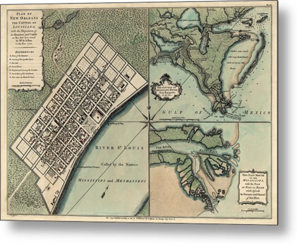 Antique New Orleans Map.Antique Map Of New Orleans By Thomas Jefferys 1759 By Blue Monocle