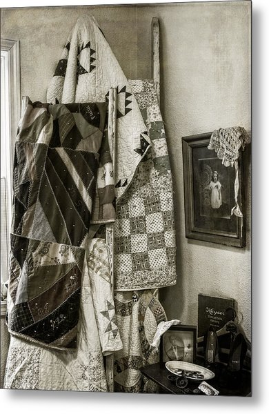 Antique Quilts Metal Print