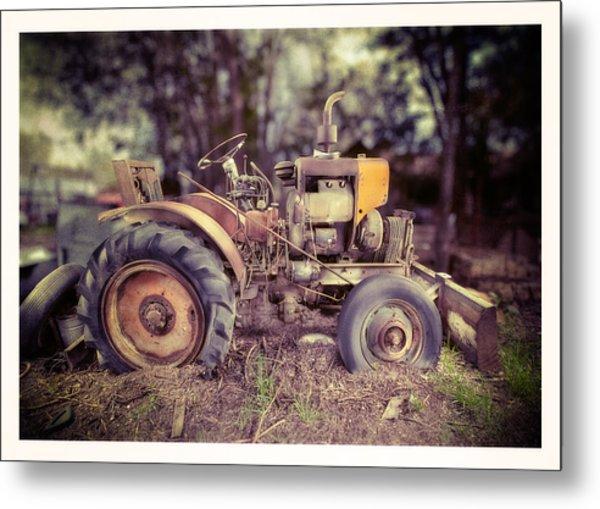 Antique Tractor Home Built Metal Print