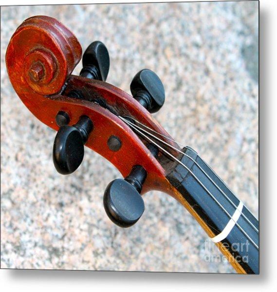 Antique Violin Metal Print