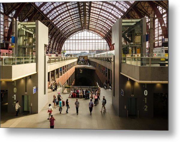 Antwerp-centraal Station Metal Print