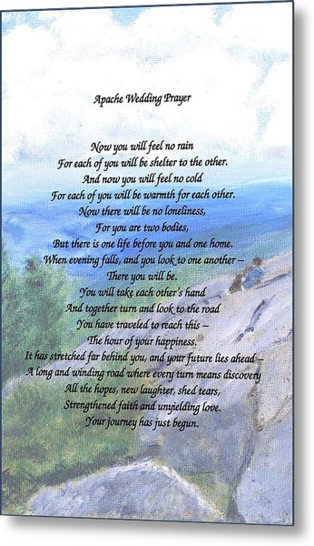 Apache Wedding Prayer Metal Print