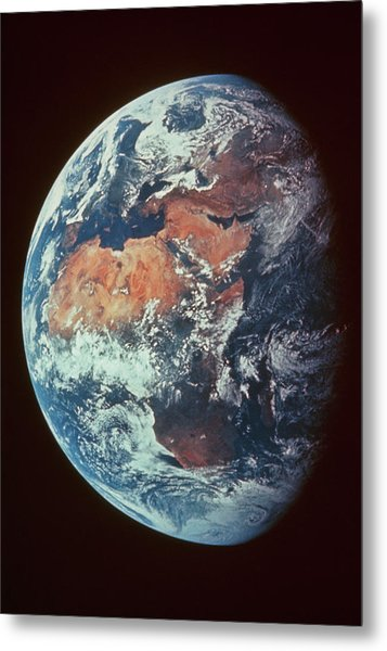 Apollo 11 Image Of The Continent Of Africa Metal Print