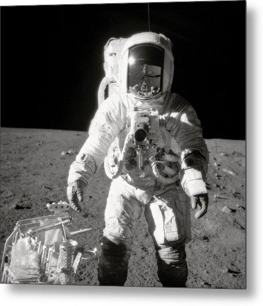 Apollo 12 Moonwalk - 1969 Metal Print