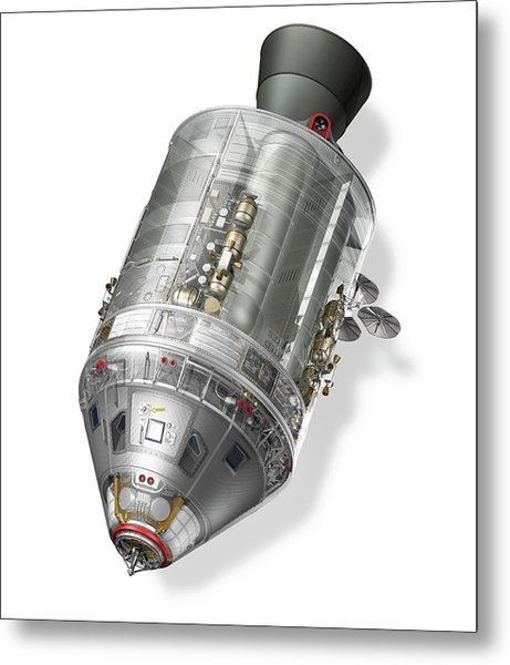 Apollo Command Service Module Metal Print by Carlos Clarivan/science Photo Library