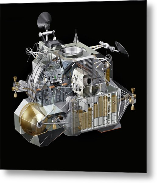 Apollo Lunar Module Ascent Stage Metal Print by Carlos Clarivan/science Photo Library