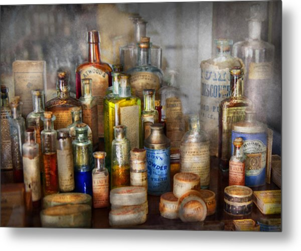 Apothecary - For All Your Aches And Pains  Metal Print