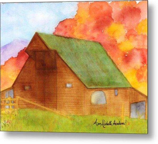 Appalachian Barn In Autumn Metal Print