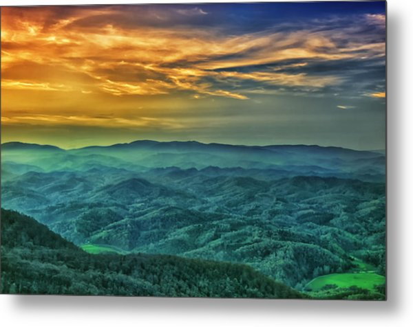 Appalachian Mountain Sunset Metal Print