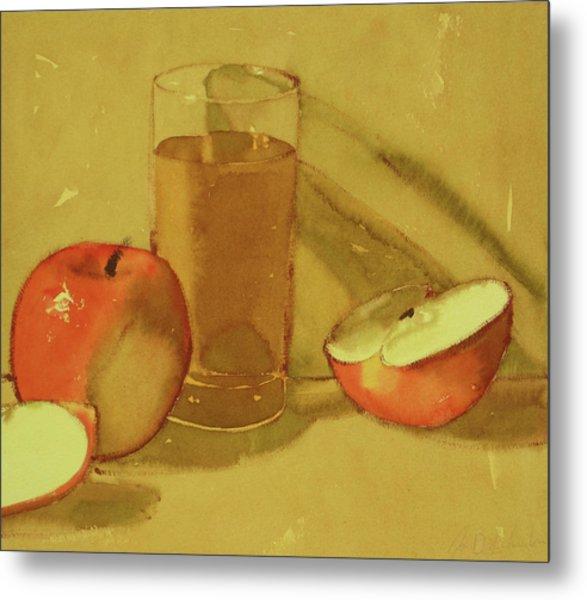 Apple Juice Metal Print