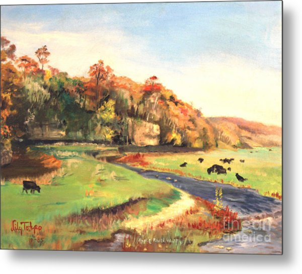 Apple River Valley Il. Autumn Metal Print