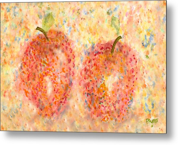 Apple Twins Metal Print