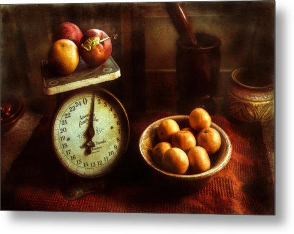 Apples To Oranges Metal Print